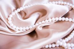 Silk & Pearl Royalty Free Stock Photography