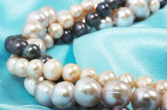 Silk and pearls Royalty Free Stock Photography