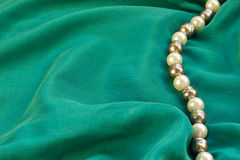 Silk with pearls Royalty Free Stock Photography