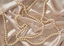 Silk & Pearls Royalty Free Stock Photos