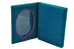 Silk photo frame Royalty Free Stock Images