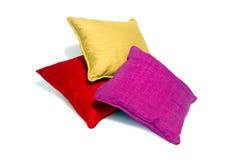 Silk pillows and pillows cases Royalty Free Stock Photos