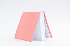 Silk pink note book Stock Photos