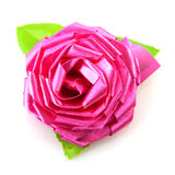 Silk pink rose Royalty Free Stock Photo