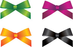 Silk present bow Royalty Free Stock Image