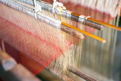 Silk production factory Royalty Free Stock Images