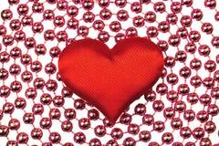 Silk röd hjärta Royaltyfri Bild