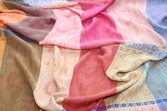Silk rainbow scarf Royalty Free Stock Photography