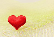 Silk red heart Stock Photography