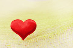 Silk red heart Royalty Free Stock Photo