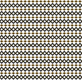 Silk repeated pattern in golden hues. Silk repeated pattern with rhombuses in golden hues on white background. Abstract design and texture Royalty Free Illustration