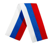 Silk ribbon - the Russian flag Royalty Free Stock Photos