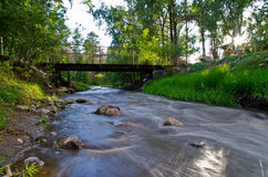 Silk River. This was a long exposure I shot of the Rio Bonito in the Lincoln National Forest, New Mexico Royalty Free Stock Photos