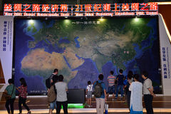 The Silk Road Economic Belt. The sketch map of The Silk Road Economic Belt on the 11th China(Shenzhen) International Cultural Industries Fair 2015/05/14-18 royalty free stock photography