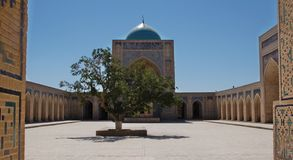 Silk Road Landmarks Kalon Mosque Buchara Royalty Free Stock Photos