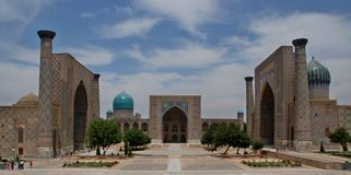 Silk Road Travelling Samarkand Registan Square Royalty Free Stock Photography