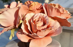 Silk roses. Royalty Free Stock Photography
