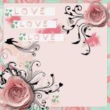 Silk Roses Love Wallpaper Stock Image