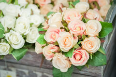 Silk roses Stock Images