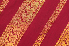 Silk Saree Stockbild