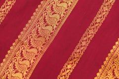 Silk Saree. Close up shot of Indian silk saree Stock Image