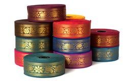 Silk sari border Stock Image