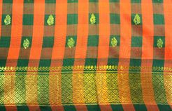 Silk Sari. Women traditional Indian Silk Sari. Women wear during indian festivals like Diwali and ceremonies Stock Images