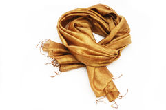 Silk scarf. Isolated on white background Stock Image