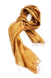 Silk scarf. Isolated on white background Royalty Free Stock Image