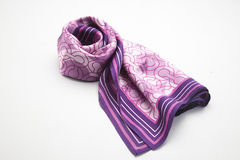 Silk scarf. A beautiful silk scarf isolated on white Royalty Free Stock Photos
