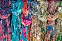 Silk scarf royaltyfria bilder