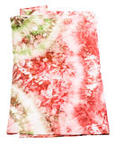 Silk scarf with abstract pink and green pattern Stock Photography