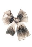 Silk scarf. Beige silk scarf folded like bowknot Stock Images