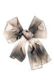 Silk scarf. Beige silk scarf folded like bowknot. Beige silk scarf folded like bowknot isolated on white background. Female accessory stock images