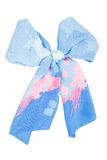 Silk scarf. Blue silk scarf folded like bowknot Stock Images