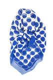Silk scarf. Blue silk scarf isolated on white background Royalty Free Stock Photos