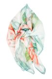 Silk scarf. Blue silk scarf isolated on white background Stock Image