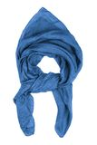 Silk scarf. Blue silk scarf isolated on white background Royalty Free Stock Photography