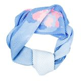 Silk scarf. Blue silk scarf isolated on white background Royalty Free Stock Photo