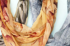Silk scarf Stock Photography