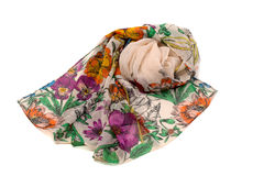 Silk scarf with floral pattern Stock Image