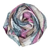 Silk scarf. Lilac silk scarf associated rose Stock Photography