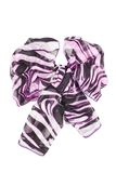 Silk scarf. Lilac silk scarf folded like bowknot Stock Photo