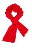 Silk scarf. Red silk scarf isolated on white background Royalty Free Stock Photos