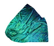The silk scarf. Texture of silk. Stock Photo
