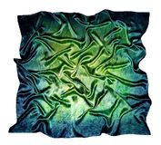 The silk scarf. Texture of silk. Stock Photos