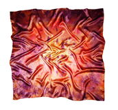 The silk scarf. Texture of silk. Royalty Free Stock Photos