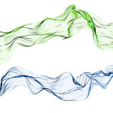 Silk scarf. Two delicate silk materials in green and blue Royalty Free Stock Photo