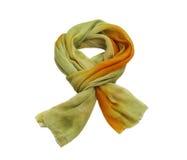 Silk scarf. On white background Royalty Free Stock Image