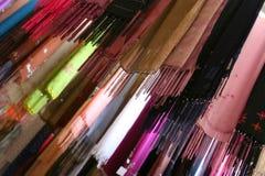 Silk scarfs. Royalty Free Stock Photo